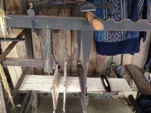Hemp Loom, after making the the hemp thread they use looms like this to create the different fabrics