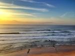 Surf check at sunset
