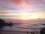 Amazing sunset right in peniche