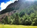 First camping spot in zermatt Switzerland