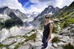 Glacier near mt. Blanc